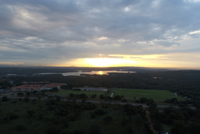 Sunset over Roodeplaat dam, Pretoria, South Africa