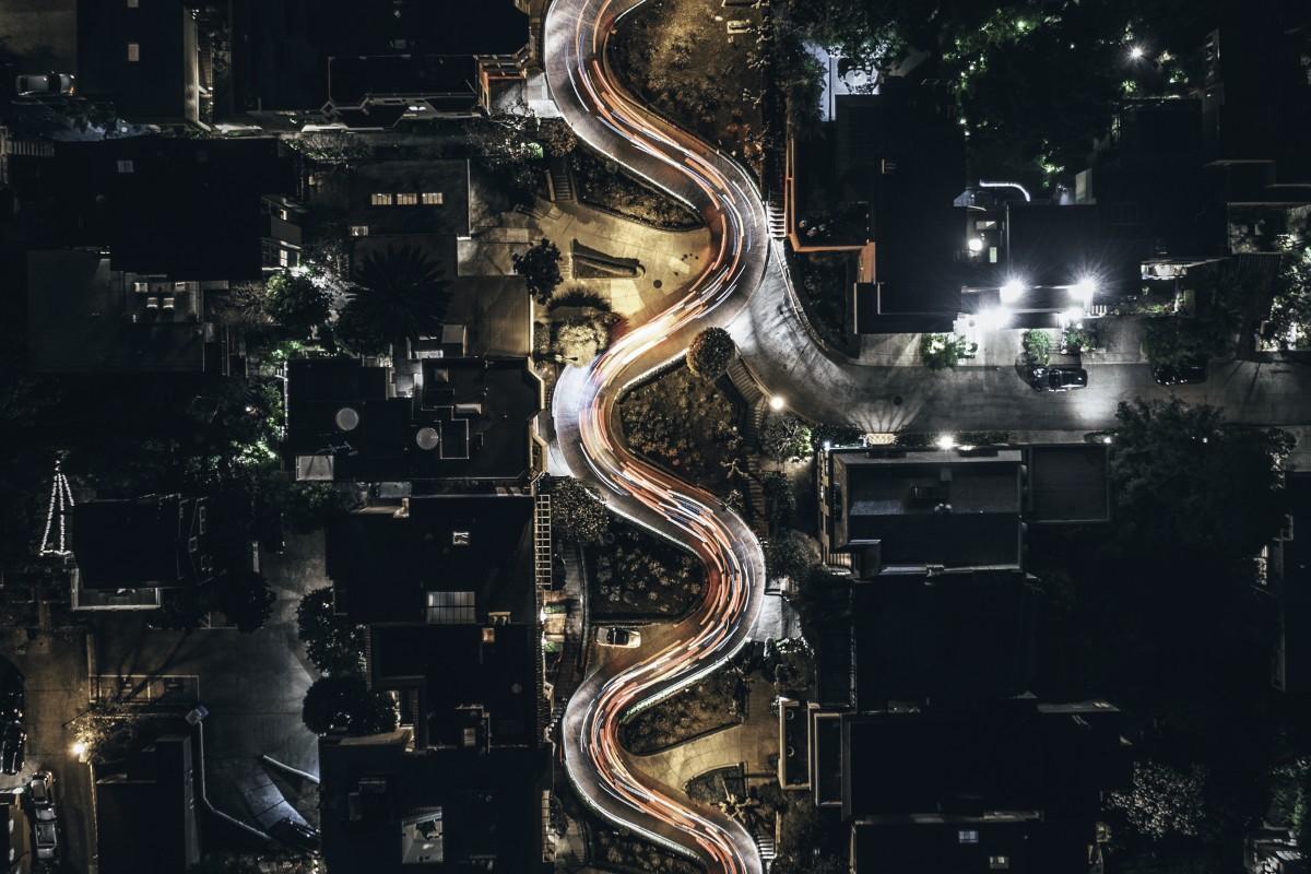 Snake through the city