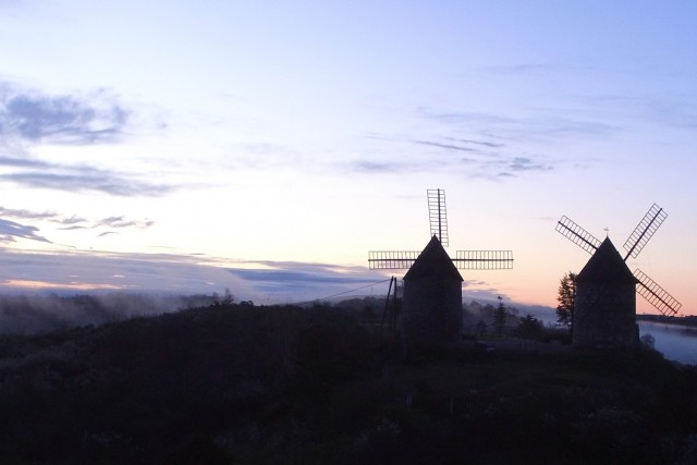 Sunrise over Wind Mills