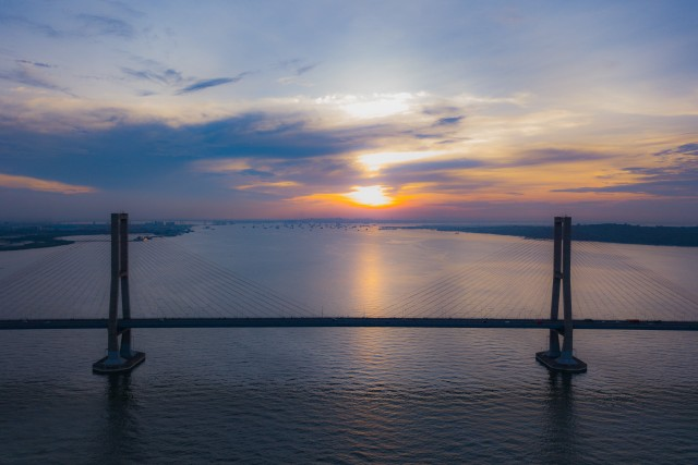 Sunset on SURAMADU bridge