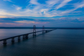 When afternoon come on Surmadu Bridge