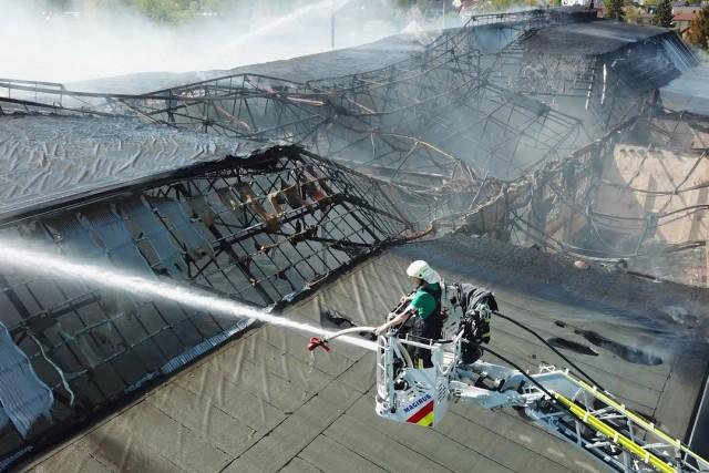 Großbrand Strabag-Halle