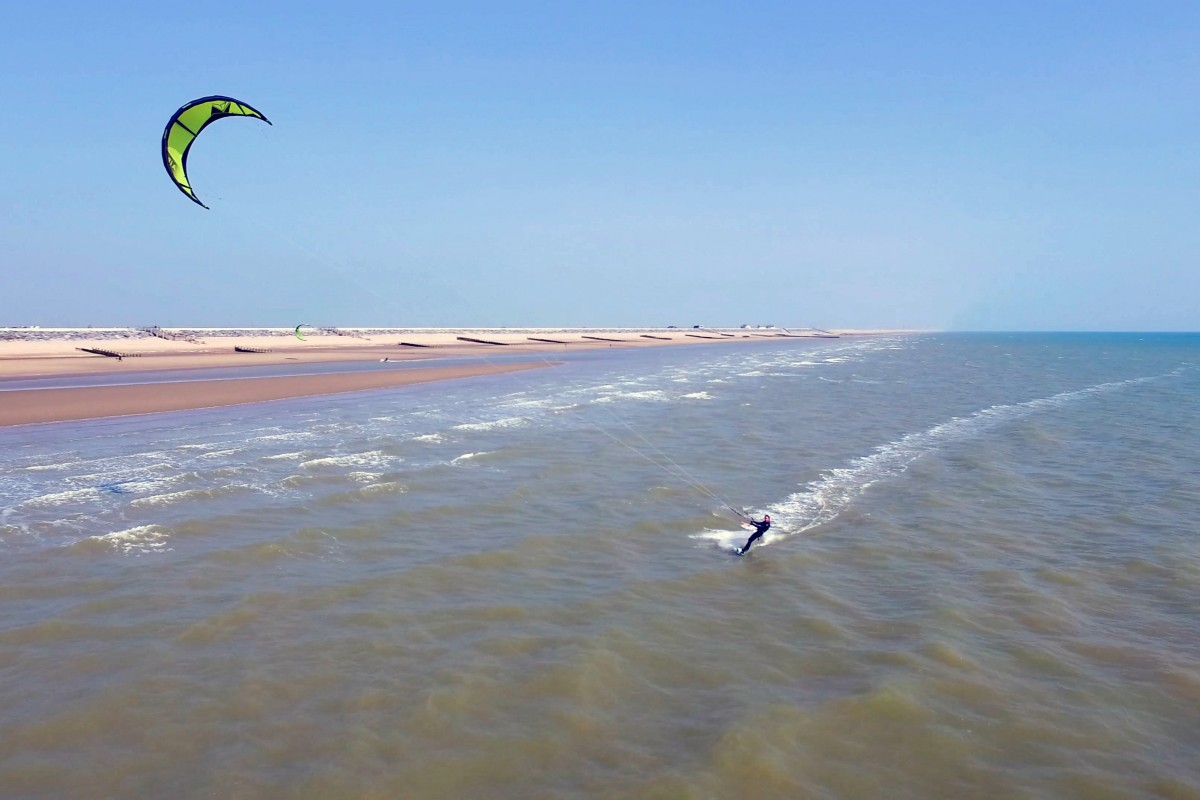 Solo Kitesurfer