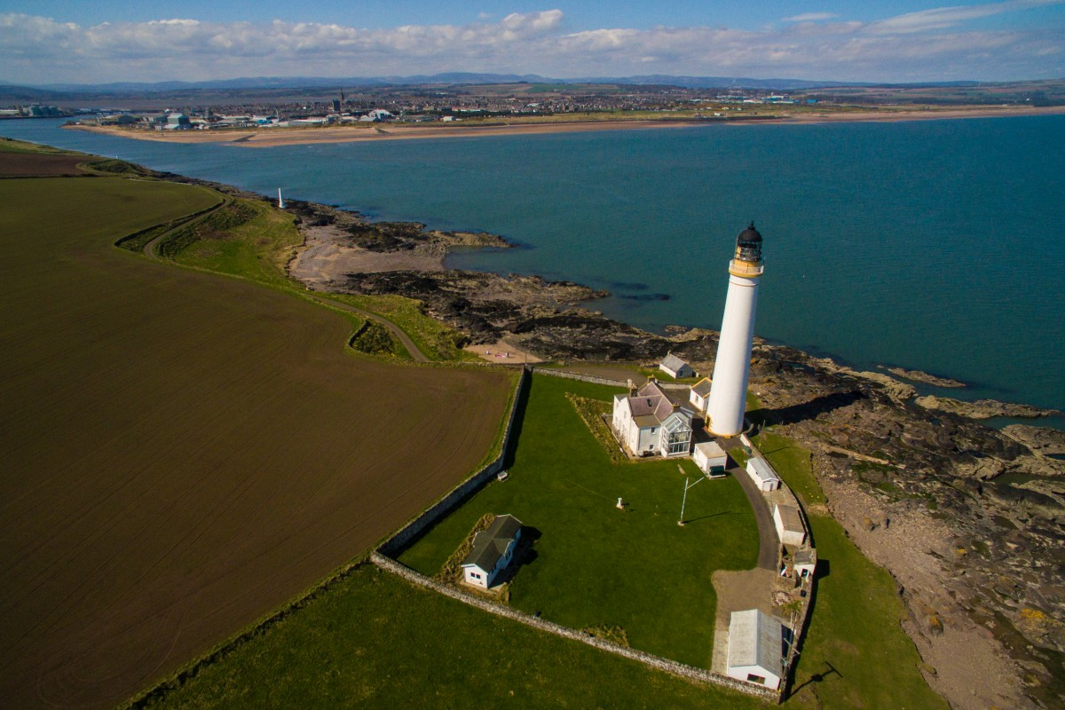 Scurdieness Lighthouse in montrose