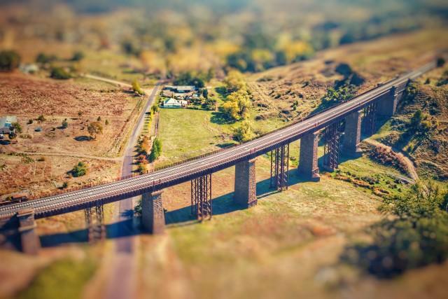 Taradale Rail Bridge also known as the Taradale Viaduct.