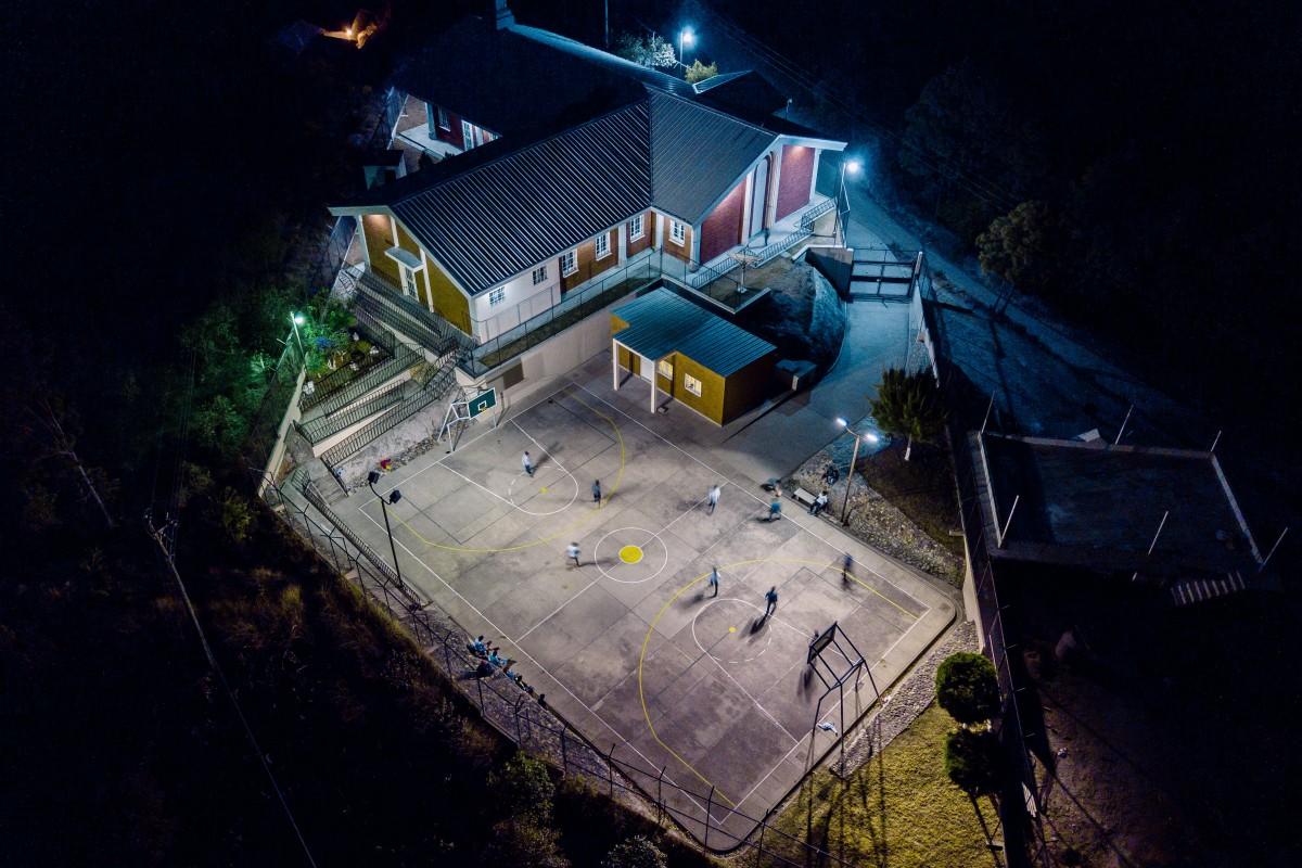 Night soccer game