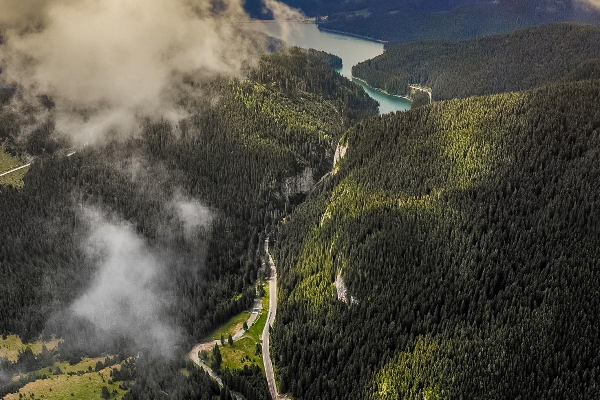 Bolboci Lake, Transbucegi, Romania