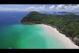 The best color white sand beach in Chumphon thailand
