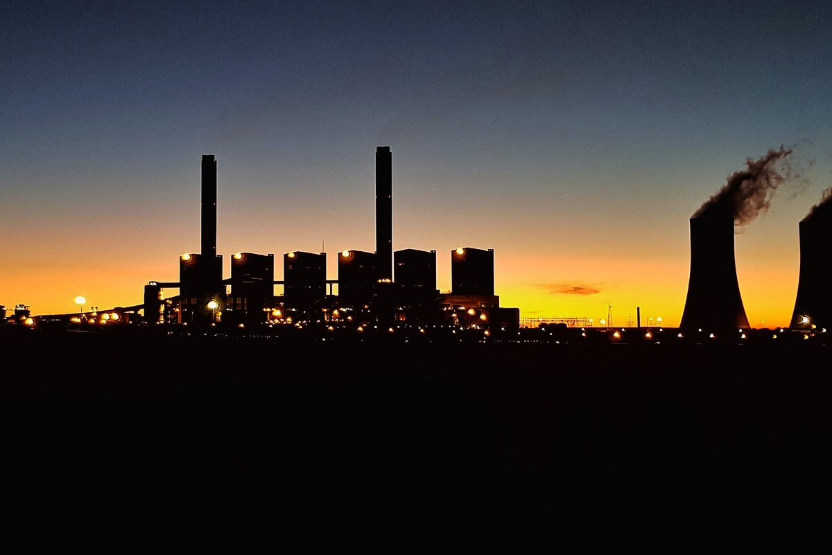 Sunsets at Majuba Power station
