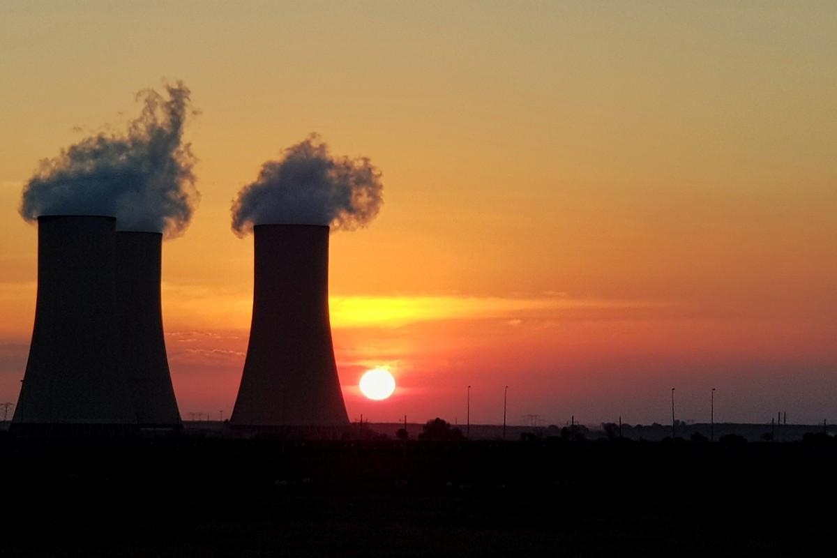 Sunsets at Majuba Power station