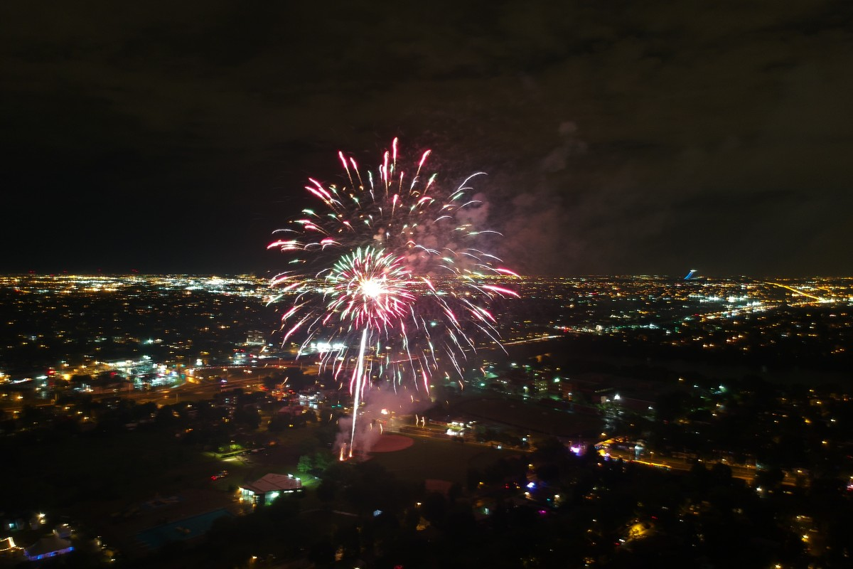 Fireworks from the sky