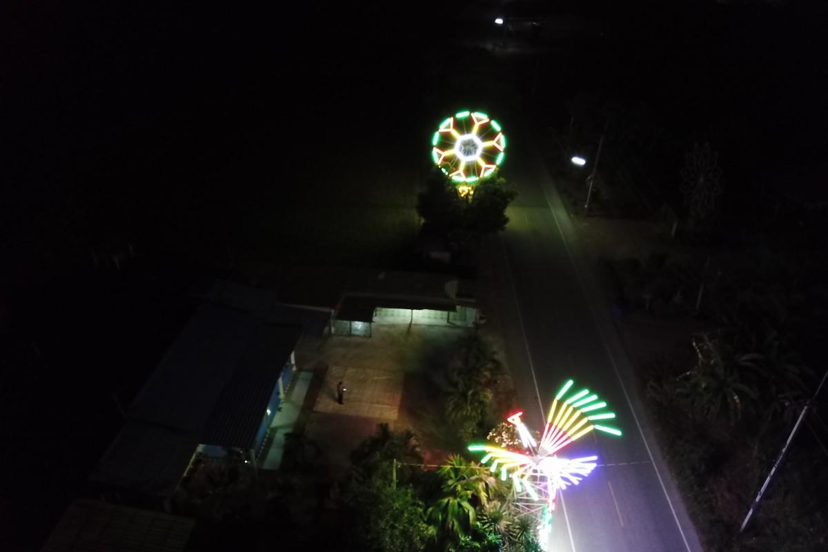 Kanchanaburi Farmland in day and night