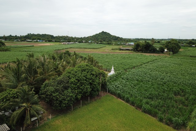 Kanchanaburi Farmland in day and night