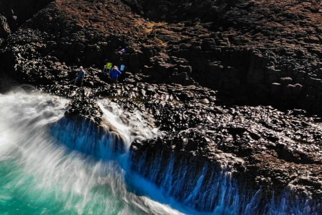 Rock fishing at Fingal Head