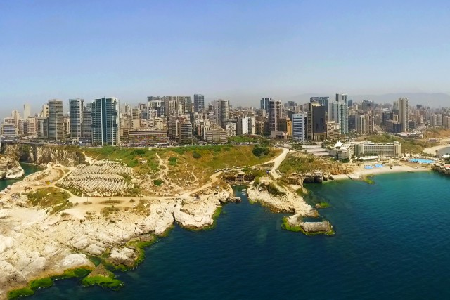 AERIAL PANORAMIC PHOTO OF BEIRUT – Low Alt