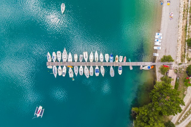 Pier from above