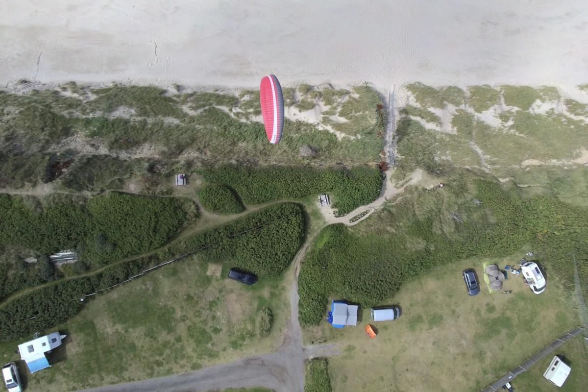 Hang gliding at Løkken, Denmark