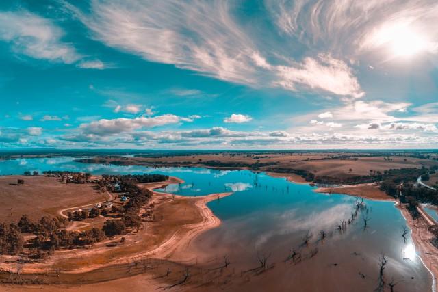 Beautiful Skies over Lake Eppalock