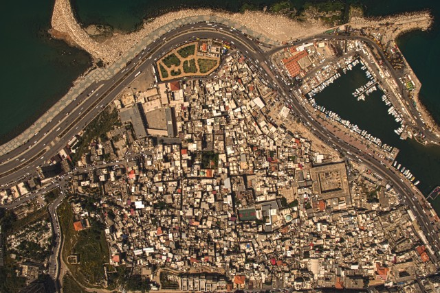 AERIAL PHOTO/MAP OF THE OLD CITY OF SAIDA – LEBANON