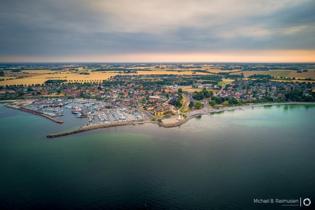 The small fishing village Rødvig on Stevns in Denmark