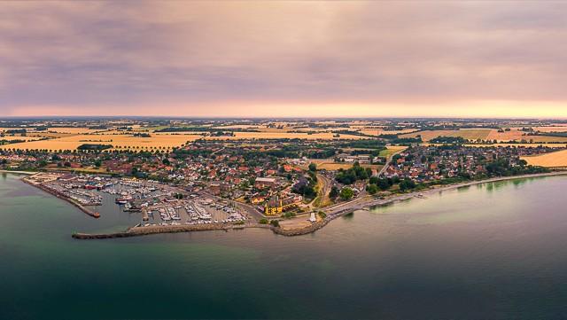 Panorama of Rødvig Denmark