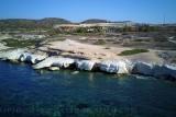 Alamanos chalk beach