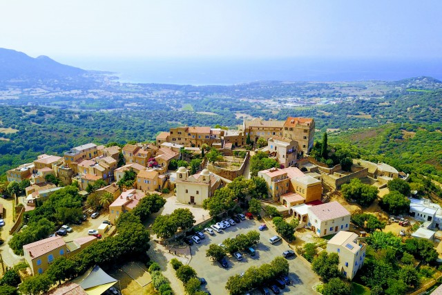 Aerial view of sant'antonello in corsica