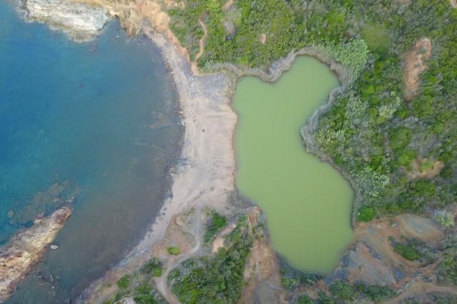 Lago di zolfo sull'elba