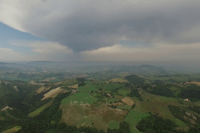 Calanchi tra le nuvole