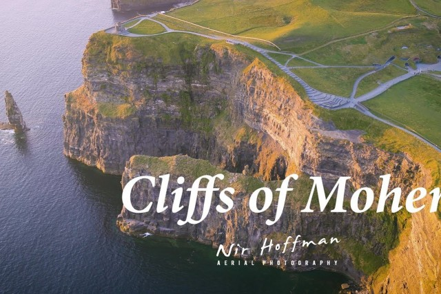 Cliffs of Moher film with dji inspire 2