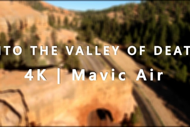 Into the Valley of Death | 4K Mavic Air | Aerial views of the desert