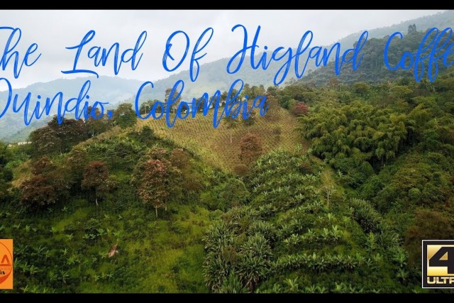 Land of Highland Coffee – Quindio, Colombia – Relaxing aerial video.