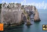 White Cliffs of Etretat. Amazing landmark of Normandy captured with drone in 4K