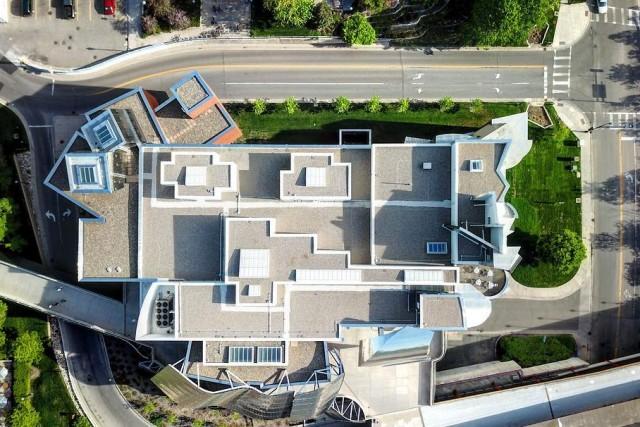 Drones eye view Weisman Art Museum MN