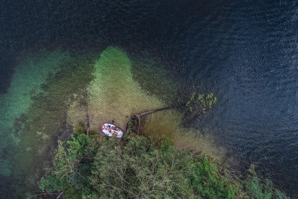 Abandoned island in Lithuania