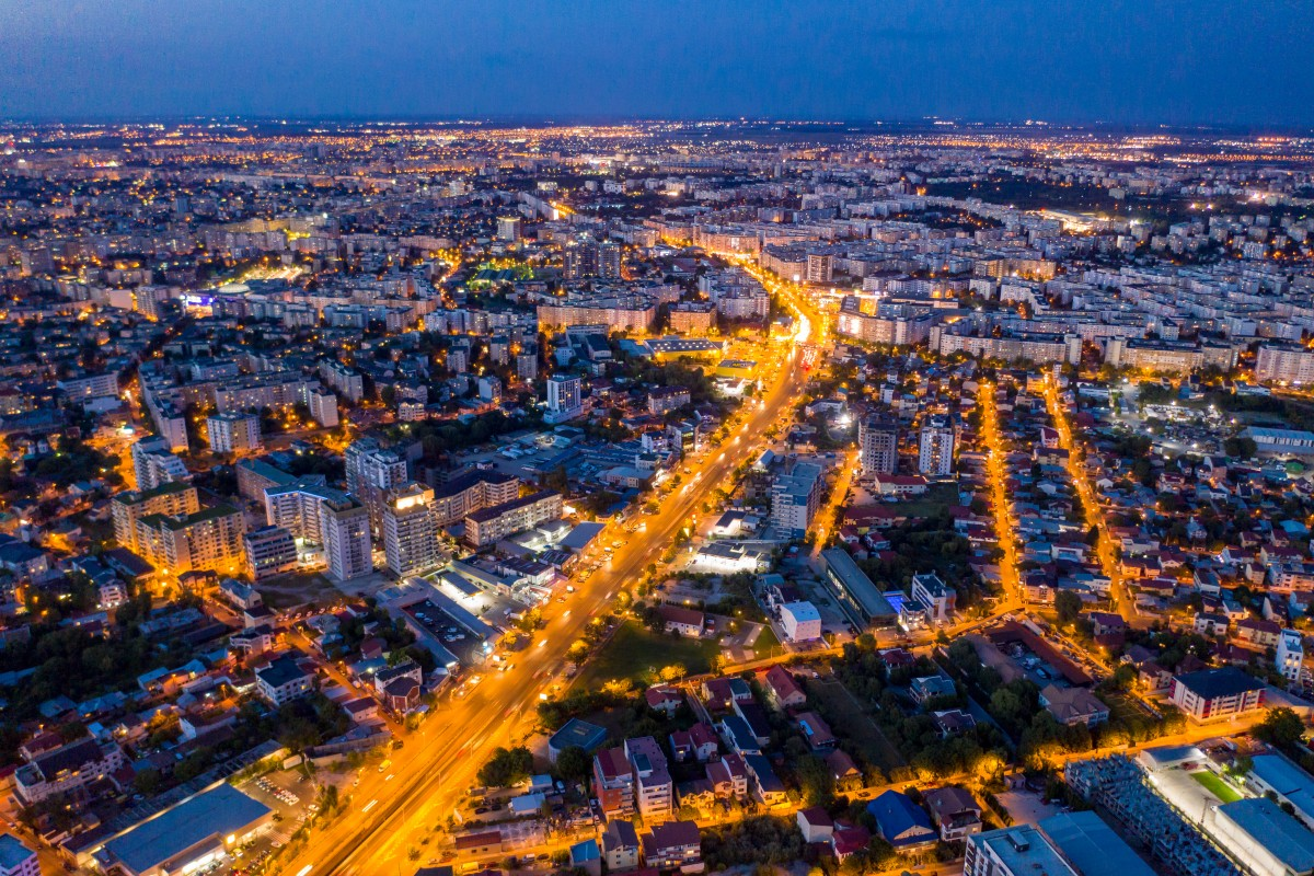 Bucharest by night, shot with the new Mavic 2 Pro