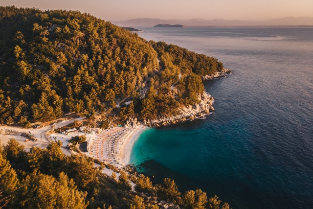 Sunrise at Porto Vathy, Thassos Island, Greece