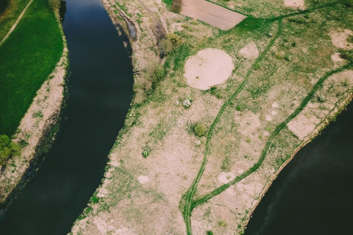 Bends of Nemunas/Neman river at Merkine, Lithuania