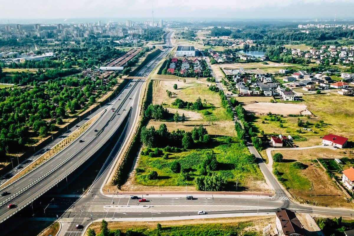Highway in Vilnius, Lithuania