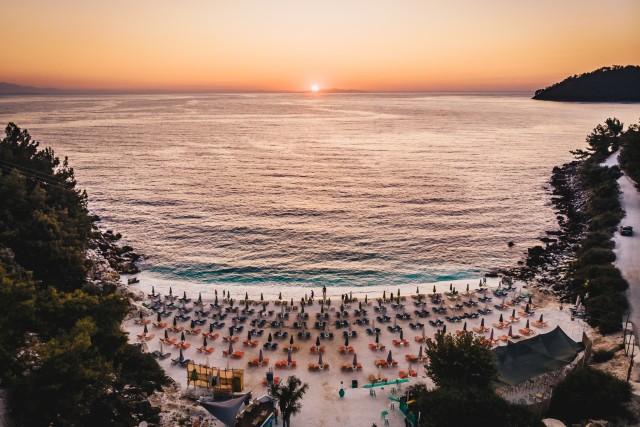 Sunrise at Marble Beach, Thassos Island, Greece