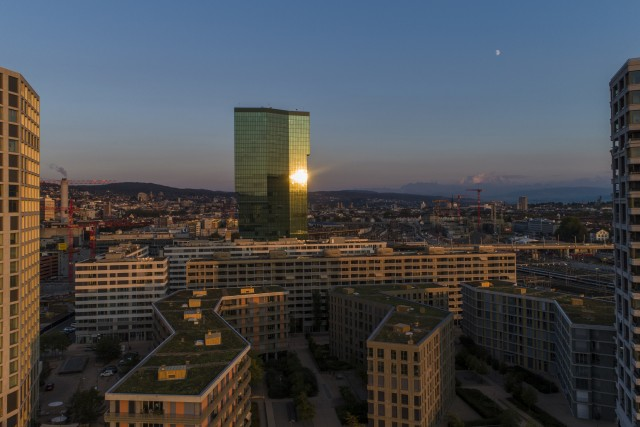Sunset – Prime Tower, Zurich