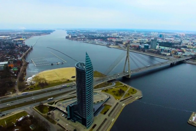 Riga city drone video | 2016