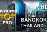 Bangkok, Thailand. HD aerial drone video.