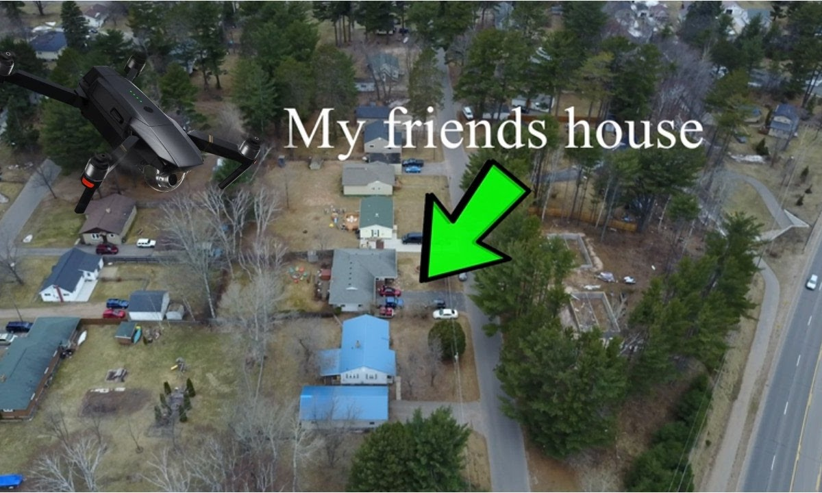 """""""Spying"""" on my buddy with the Mavic Pro"""