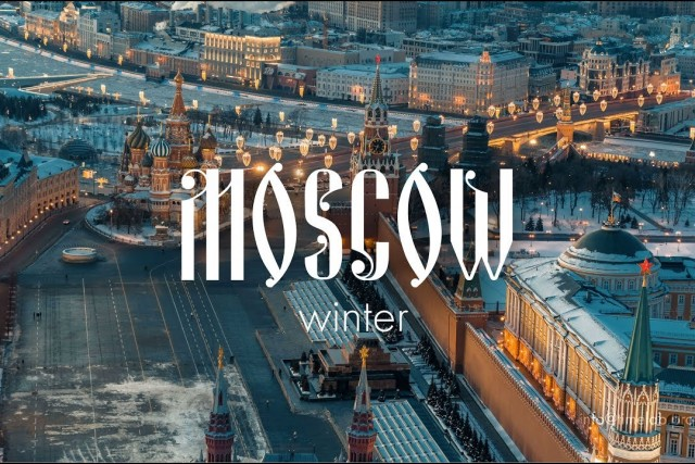 Desperation of winter Moscow  Russia Drone Video  Shot on DJI X7