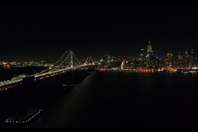 4k Drone Video of San Francisco at Night