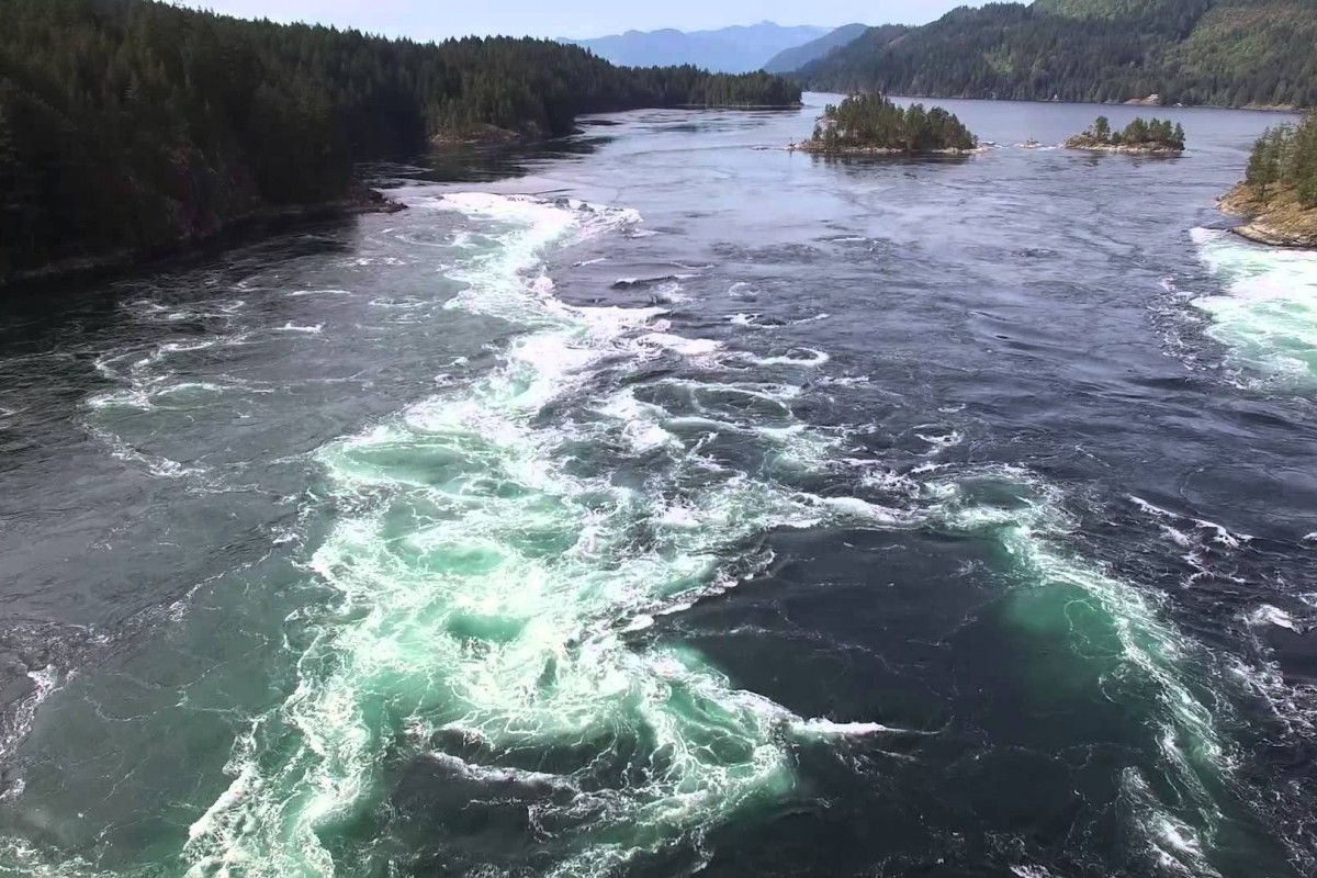 Drone video from Skookumchuck, BC, Canada