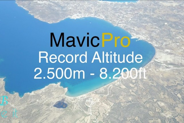 DJI Mavic Pro Record Altitude 2.500m – 8.200ft – How to check wind speed