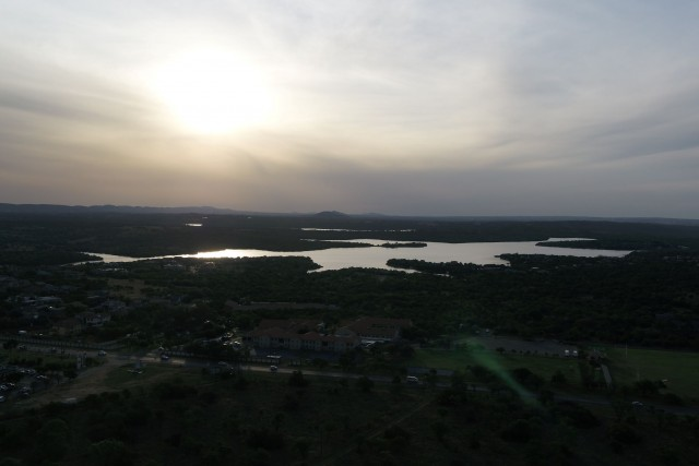 Sunset over Roodeplaat dam, South Africa