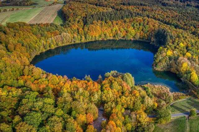 Holzmaar crater lake, Germany